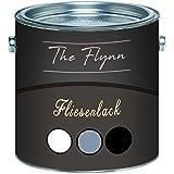 The Flynn hochwertiger Fliesenlack glänzend Grau Weiß Schwarz Cremeweiß Anthrazitgrau Lichtgrau Silbergrau Farbauswahl 2 Komponenten Fliesenlack inkl. Härter (1 L, Anthrazitgrau)