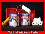 2 Dosen FLIESENLACK inkl. FARBROLLER WILCKENS weiß für 16 qm