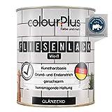 colourPlus® Fliesenlack (750ml, Weiß) glänzender 1K Fliesenlack Weiß strapazierfähig - einfach Fliesen streichen - Made in Germany