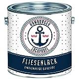 Fliesenlack MATT Weiß RAL 9010 Weiß Fliesenfarbe im SET // Hamburger Lack-Profi (1 L)